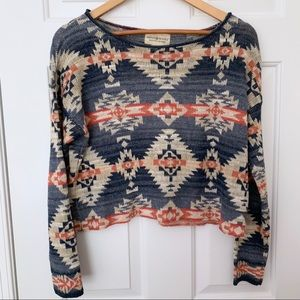 Denim & Supply RL Aztec Cropped Sweater Vintage M